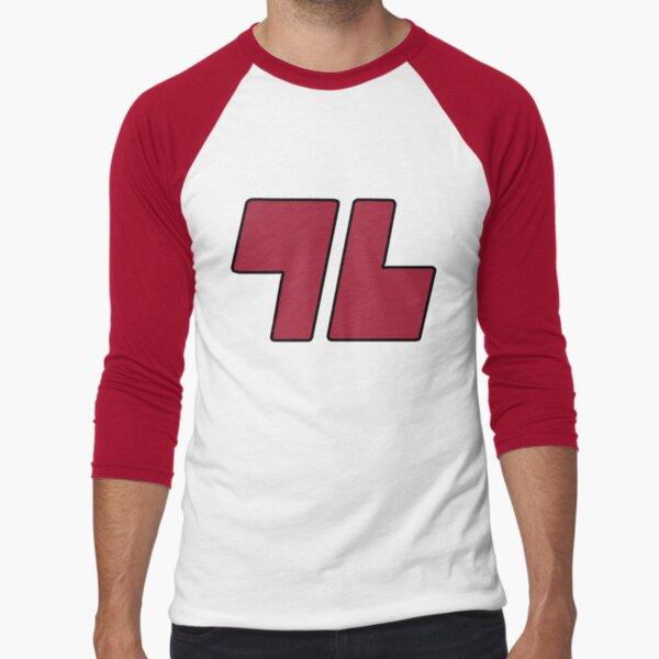 96 Red - Sun and Moon Baseball ¾ Sleeve T-Shirt
