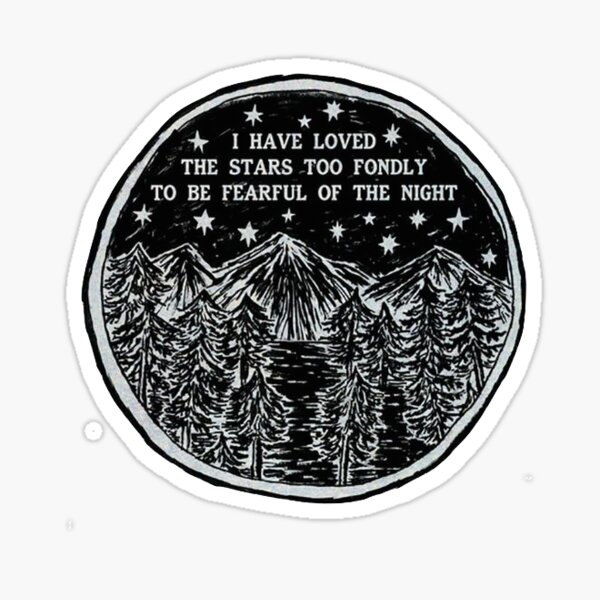 I Love the Stars Sticker