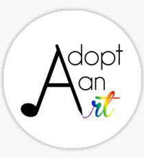 Adopt an Art Sticker