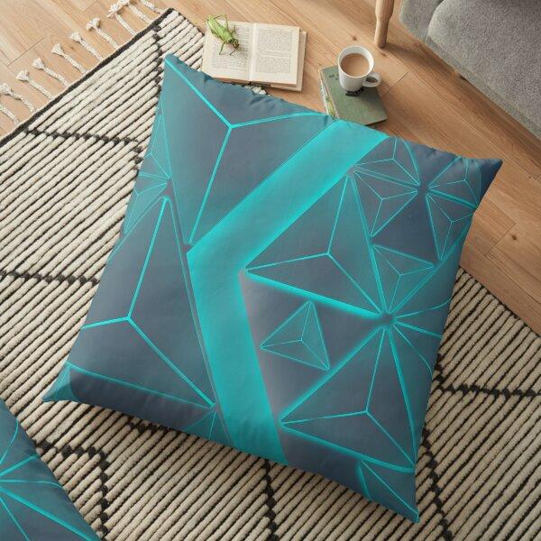 Metallic Aqua and Ash Floor Pillow