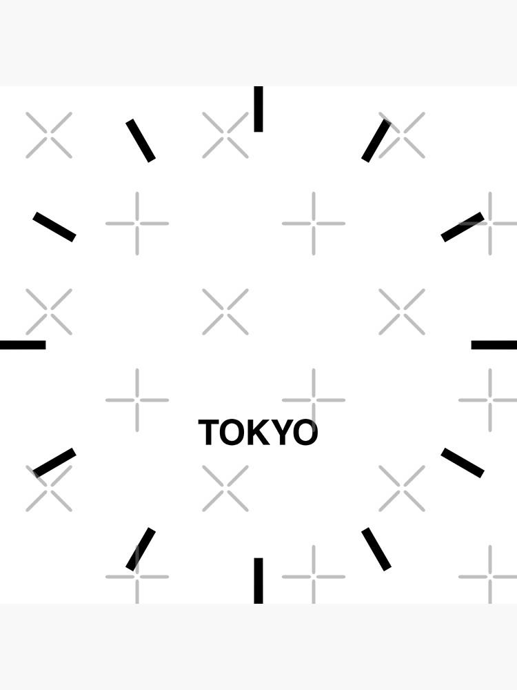 Tokyo Zeitzone Newsroom Wanduhr von bluehugo