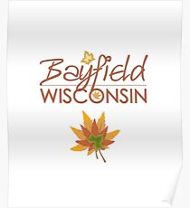 Bayfield Wisconsin Fall Colors Poster
