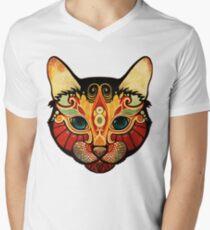 the cat T-Shirt mit V-Ausschnitt