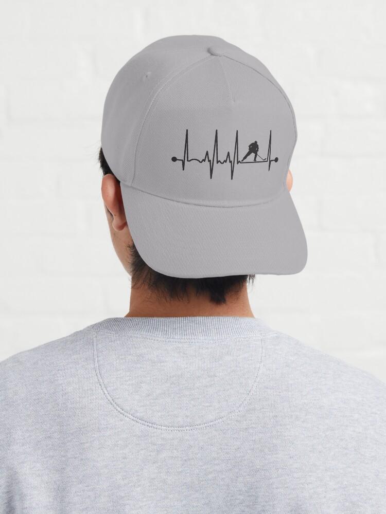 Alternate view of Hockey Heartbeat Cap