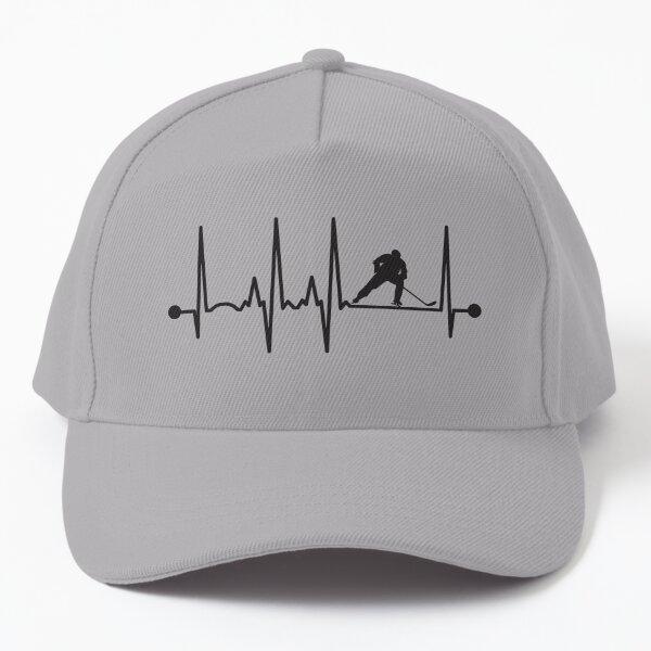 Hockey Heartbeat Baseball Cap