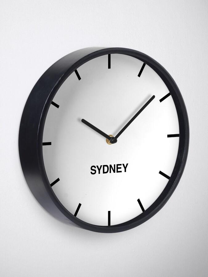 Alternative Ansicht von Sydney Zeitzone Newsroom Wanduhr Uhr