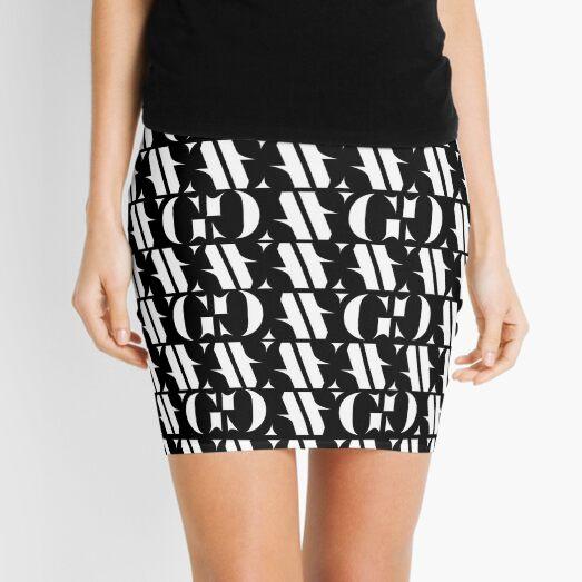 ANTO GOGO | Patrón blanco Minifalda