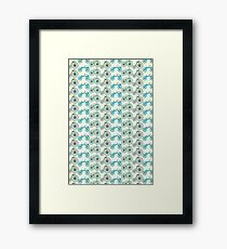 bicycle pattern Framed Print