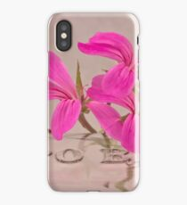 Pink Geranium Blossoms - Macro iPhone Case