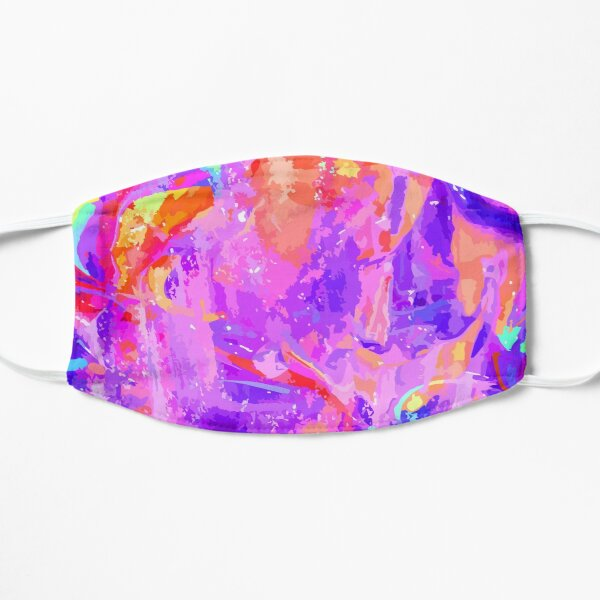 Party of purple and orange Flat Mask