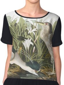 Black-Crowned Night-Heron - John James Audubon Chiffon Top