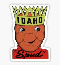 Idaho State Spud Potato Vintage Travel Decal Sticker