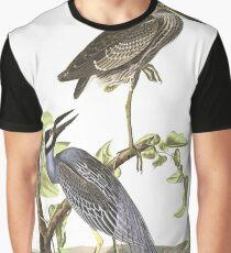 Yellow-crowned Night-Heron - John James Audubon Graphic T-Shirt