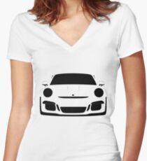 Porsche 911 GT3 RS Women's Fitted V-Neck T-Shirt