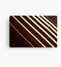 Retro stripe pattern background Canvas Print