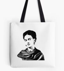 Frida Kahlo black and white Tote Bag