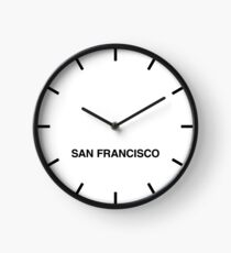 San Francisco Time Zone Newsroom Wall Clock Clock