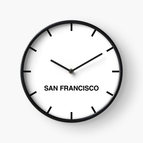 San Francisco Time Zone Newsroom Wall Clock Clock
