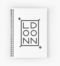 London Black Spiral Notebook