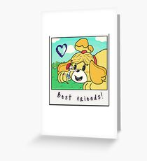 Animal crossing funny drawing greeting cards redbubble my friend yifford the big yellow assistant greeting card m4hsunfo Images