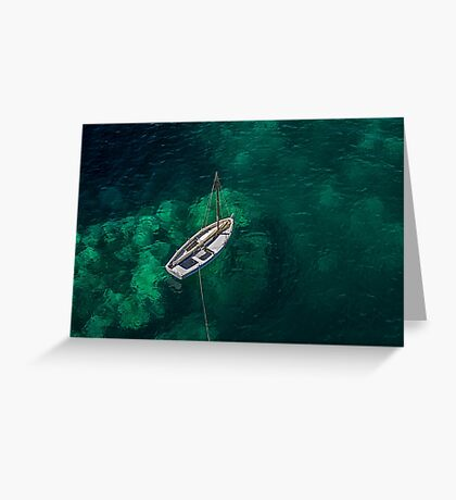 The White Boat Greeting Card