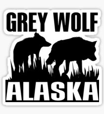 GREY WOLF Sticker
