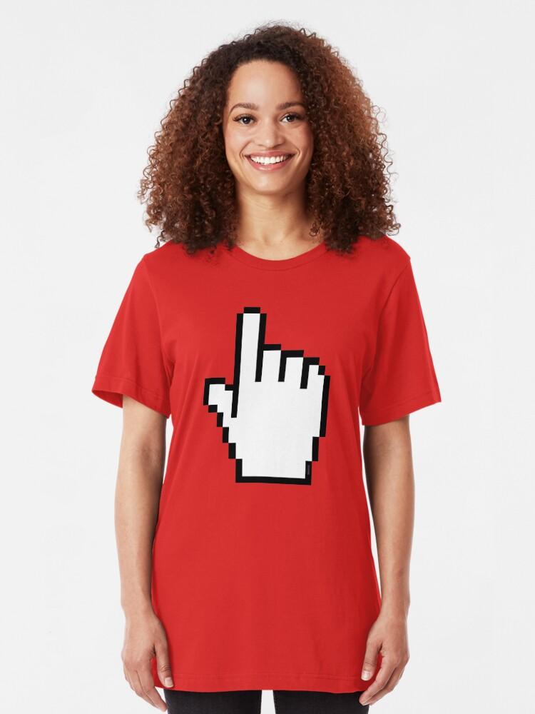 Alternate view of Index Finger Link Click Cursor Slim Fit T-Shirt