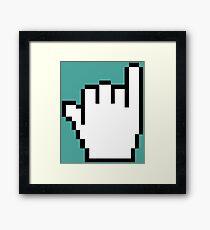 "Pixelated ""Hang Loose"" Cursor Framed Print"