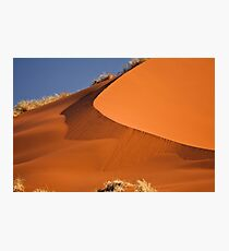 Red sand falls as silk Photographic Print