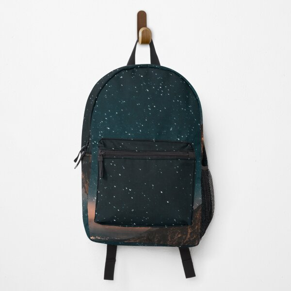 Mountain At Night Under A Starry Sky - Moody Calm  Backpack