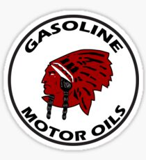 Red Indian Gasoline vintage sign reproduction Sticker
