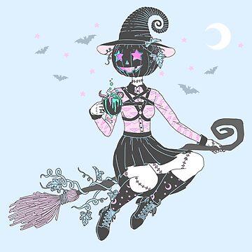 Pumpkin Witch by PastelPollution