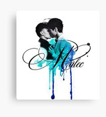 Malec kiss (blue) Canvas Print