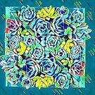 succulent square by redqueenself