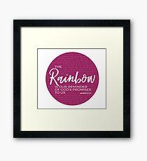 Genesis 9:11-17 Rainbow Promise Framed Print