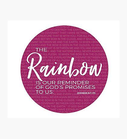 Genesis 9:11-17 Rainbow Promise Photographic Print