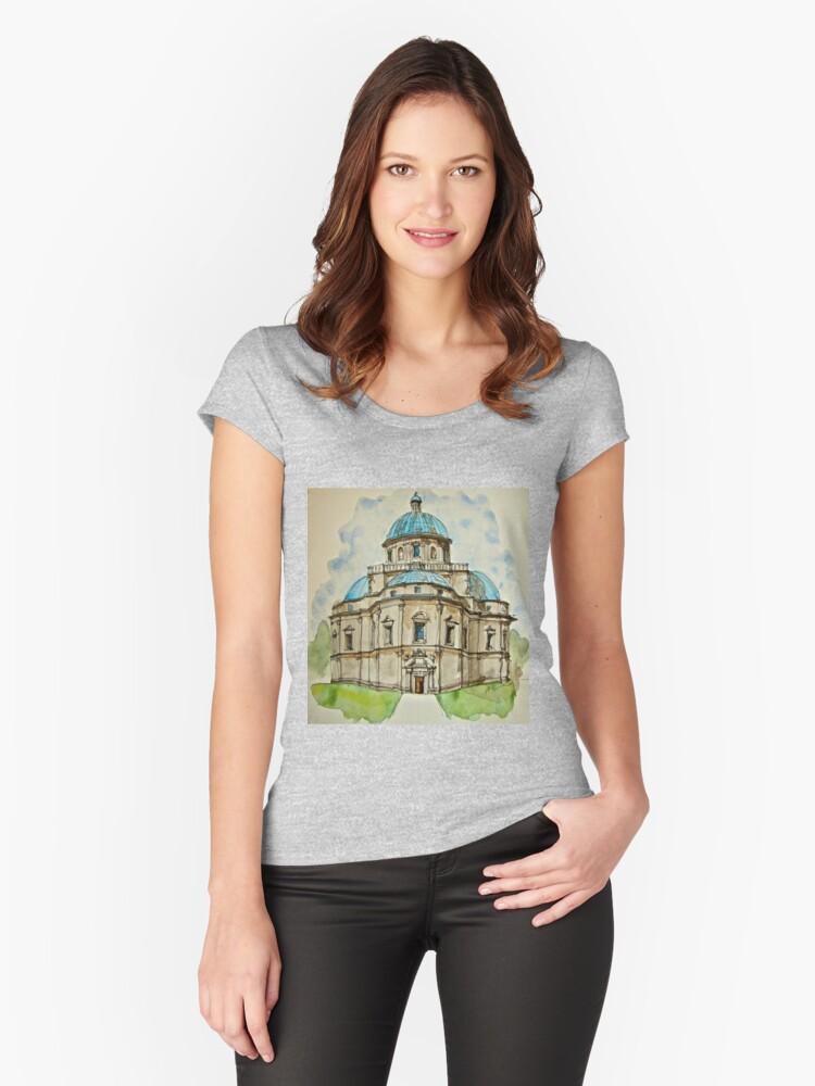 SANTA MARIA DELLA CONSOLAZIONE, TODI, ITALY Women's Fitted Scoop T-Shirt Front