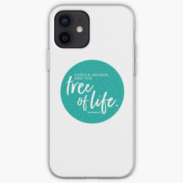 Proverbs 15:4, Gentle words are the tree of life iPhone Soft Case