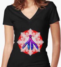 THE CLITORIS - Feminasty Bold Women's Fitted V-Neck T-Shirt