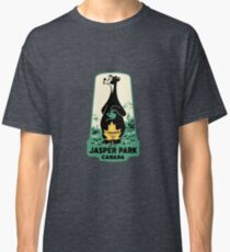 Jasper National Park Alberta Vintage Travel Decal Classic T-Shirt