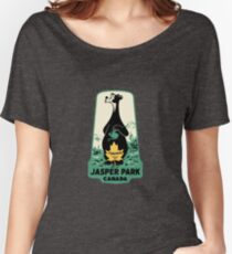 Jasper National Park Alberta Vintage Travel Decal Women's Relaxed Fit T-Shirt
