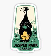 Jasper National Park Alberta Vintage Travel Decal Sticker