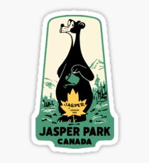 Jasper Nationalpark Alberta Vintage Reise Aufkleber Sticker