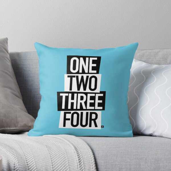 1,2,3,4 (One Two Three Four) Throw Pillow
