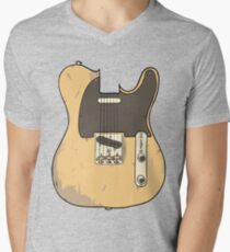 Telecaster Mens V-Neck T-Shirt
