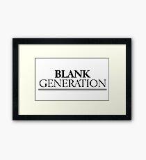 Rock Punk Generation Revoution Framed Print