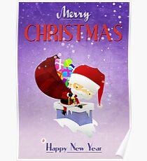 Xmas Santa's Chimney Poster