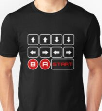 Cheat Code - Up Up Down Down Left Right Left Right B A Start  Unisex T-Shirt