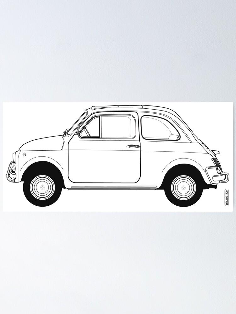 Alternate view of Fiat 500 Vintage Car Poster