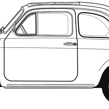 Fiat 500 Vintage Car by thedrumstick